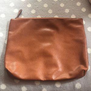 Free People brown leather laptop bag